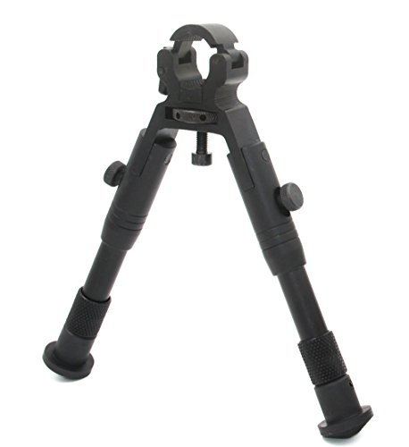 JINSE Clamp-on Bipod,6.2-6.7 Inches Dragons Claw Universal Foldable Lightweight Bipod, Barrel Size: 0.43'' to 0.74''