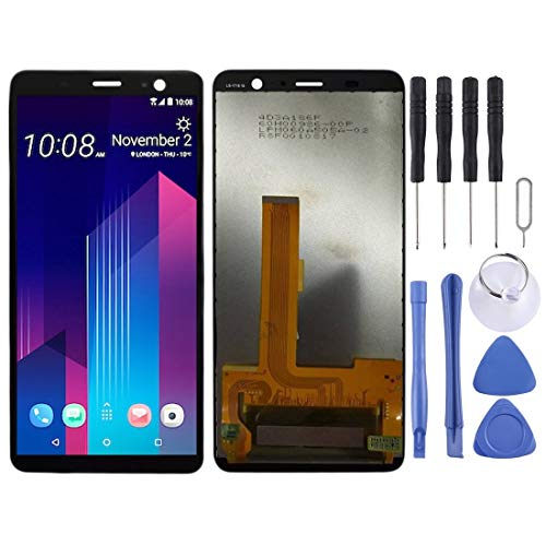 HUAAT -LCD Screen and Digitizer Full Assembly for HTC U11+ (Black) DIY (Color : Black)