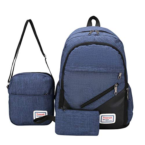 Best Prices! Ikevan_ Canvas Laptop Business Computer Travel Backpack Male Female High School Student...