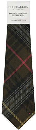 I Luv Ltd Gents Neck Tie Stewart Hunting Weathered Tartan Lightweight Scottish Clan Tie