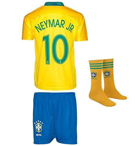 SVB Brasil Copa del Mundo wm18# 10Neymar–Niños Pantalones y Camiseta con Calcetines