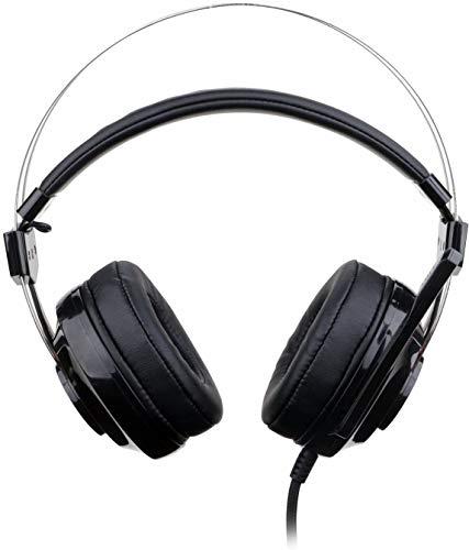Sebasty Casques Entendu Les Plaidoyers, 7.1 Canaux Surround Stéréo Gaming Headset Plus De Casque Ear avec Micro Individuel Vibration Réduit Le Bruit LED, Tête De Jeu Casque Filaire