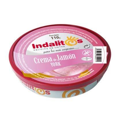 Indalitos - Crema de Jamón York - Bandeja de 5 Latas 110 g