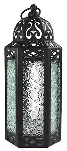 Vela Lanterns Moroccan Style Candle Lantern, Medium, Clear Glass