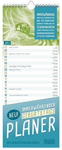 XL Geburtstagsplaner immerwährend mit Geschenkeliste & Planungstools, zeitloser Wandkalender/Wandplaner Geburtstagskalender