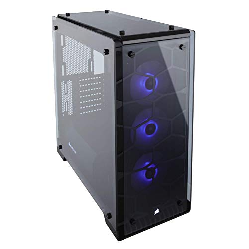 Corsair Crystal 570X RGB Mid-Tower Case, 3 RGB Fans, Tempered Glass - Black -...