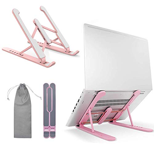 Portable Laptop Stand Holder for Desk with Adjustable Height Multi-angle, Foldable Ventilated Ergonomic Laptop Mount Riser Compatible MacBook Air Surface Pro Dell Lenovo Tablet Notebook