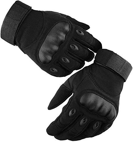 AOYOMO Guantes de Moto Pantalla Táctil, Guantes Tácticos Militares Dedo Completo Anti-Deslizante Invierno Verano para Hombre Mujer - Ciclismo, Motocicleta, Escalada, Senderismo (L)