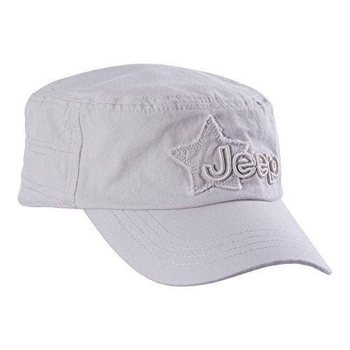 Jeep Herren Mütze Castro J8S Modell Castroherren Kopfbedeckungen, Baseball Cap, Light Grey, Uni