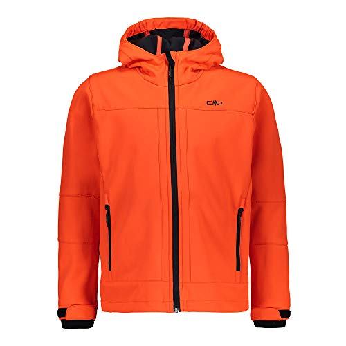 CMP – F.LLI Campagnolo Jungen Softshelljacke mit ClimaProtect-Technologie 7.000mm, Flash Orange, 104