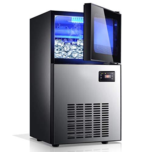 Ice Makers YX Máquina de Hielo Máquina para Hacer Hielo Industrial Máquina de té y Leche para Consumo Comercial Bar KTV Máquina automática para Hacer Cubitos de Hielo Máquina para Hacer Hielo rápido