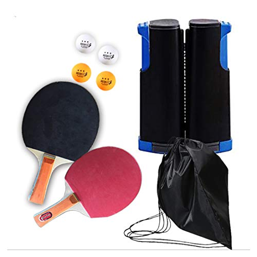 ZHLONG Mesa de Ping Pong Juegos de Raqueta Tipo telescópico netas de Colores de cuadrícula están Disponibles, Incluyendo Mesa de Ping Pong Relacionados Equipo para Deportes,Blue/Black