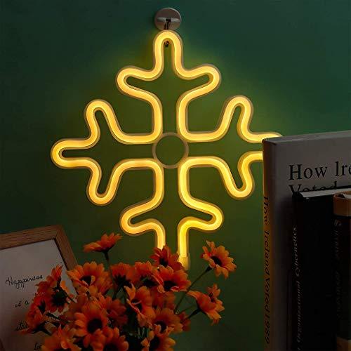 Letrero de Neón con Forma de Copo de Nieve Luz de Decoración de Neón de Pared LED para la Decoración Del Banquete de Boda de la Sala de Estar de Los Niños Del Cumpleaños