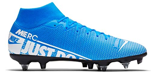 ASICS Herren Superfly 7 Academy Sg-Pro Ac Fußballschuh, Blue Hero/White-Obsidian, 46 EU