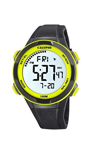 Calypso Watches Reloj Digital para Hombre de Cuarzo con Correa en Plástico K5780/1