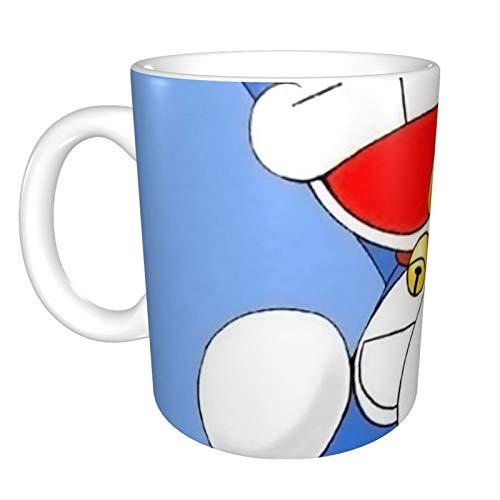 Doraemon - Tazas personalizables con asa interior de colores, 325 ml, diseño de logotipo de tu foto