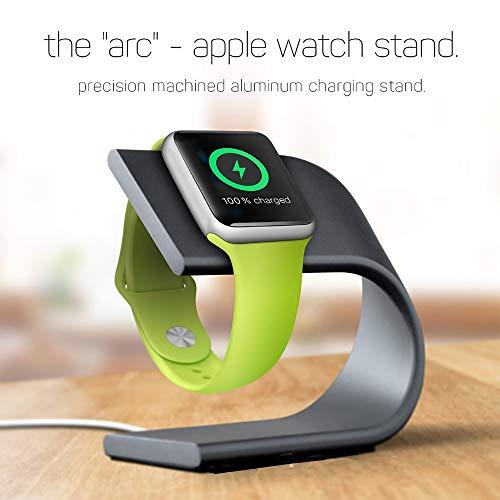 Hunptail Uhr Ständer Alu Halterung Tischständer für Apple Watch (Schwarz)