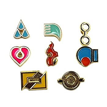 Pocket Monster Generation 1-6 Gym Badge Collection Box Game collection Set of 8PCS Gift for Boy and Girls  Generation 3