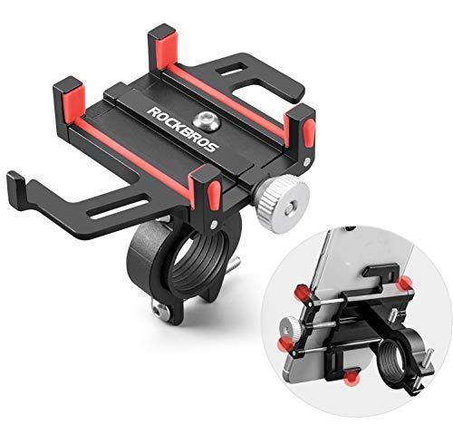 ROCKBROS Soporte Móvil para Bicicleta Moto, Rotación 360° Soporte Universal de Aleación de Aluminio para Teléfonos