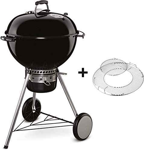 Weber 14501004 Grill, Master Touch 57cm - Holzkohle, 69x57x98 cm, schwarz