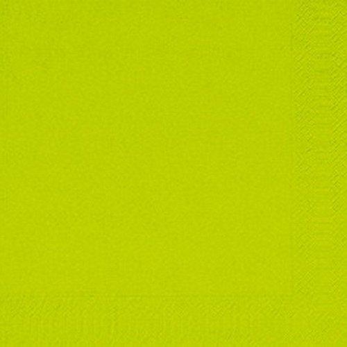250 Stck. Duni Servietten, kiwi, 3-lag, 40 x 40 cm, 1/4 Falz