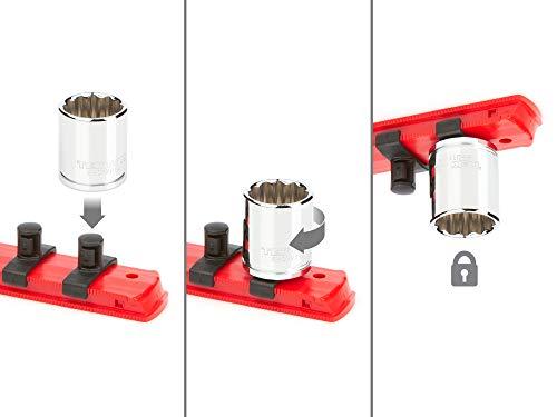 TEKTON 3/8 Inch Drive 12-Point Socket Set, 34-Piece (1/4-1 in, 6-24 mm) | SHD91206