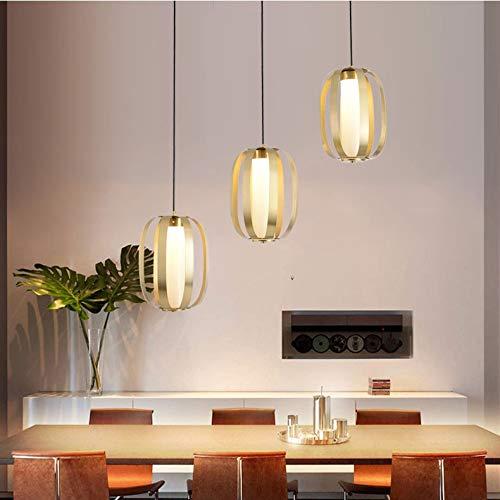 The only Good Quality Nordic drie koppen van smeedijzer glas materiaal restaurant kroonluchter grootte 89 cm x 120 cm lampen en lantaarns slaapkamer eetkamer studie hal veranda goud
