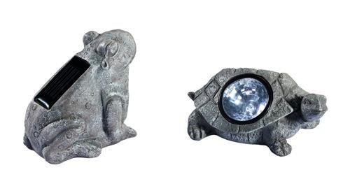ISH 76241384 - Garten-Solarleuchte in Tierform im Steindesign