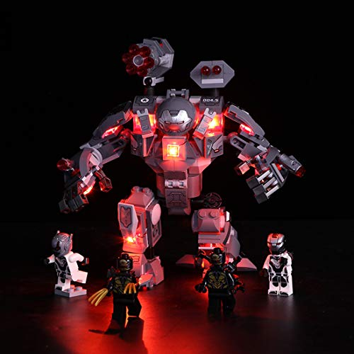 NURICH Licht Set für Lego 76124 Marvel Super Heroes War Machine Buster, passen zum Lego 76124