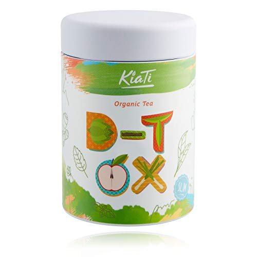 KiaTi® Té desintoxicante de 28 días para pérdida de peso detox tea 80g, 100% orgánico Infusion de Dieta - Teatox con probióticos - Té verde / Té detox / Té de ortiga producto adelgazante