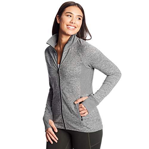 C9 Champion Women's Full Zip Cardio Jacket, Ebony Heather, Medium