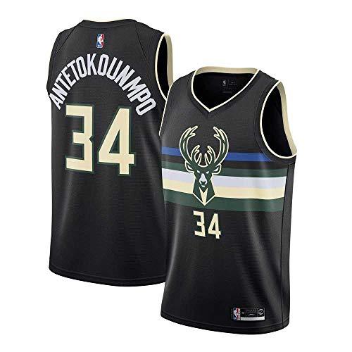 NBA Milwaukee Bucks # 34 Giannis Antetokounmpo Basketballtrikot Herren- und Damen-Retro-Sport-Swingman-Trikot