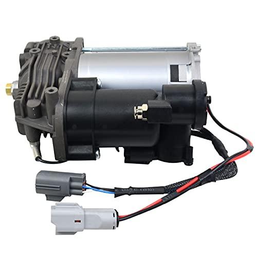 GELUOXI Bomba de compresor de suspensión neumática compatible con LR3 LR4 Ran-ge Ro-ver Sport 2005-2013 Compresor estilo AMK actualizado #LR015303 LR023964 LR044360