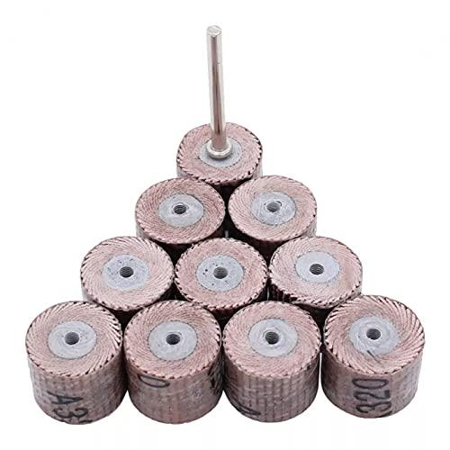 BINGXY 20 Piezas + 1 Disco de lijadora de 10mm, Ruedas de lijadora, Cepillo, Accesorios de Arena para Amoladora abrasiva, Herramientas rotativas