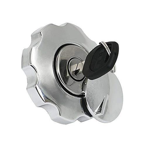 GHDBHFD Motorrad-Kraftstoff-Tankdeckel Cover Lock Set/passend for Honda CG125 CG 125 Ersatzteile Ersatz-Aluminiumkraftstoffgastank Motorrad