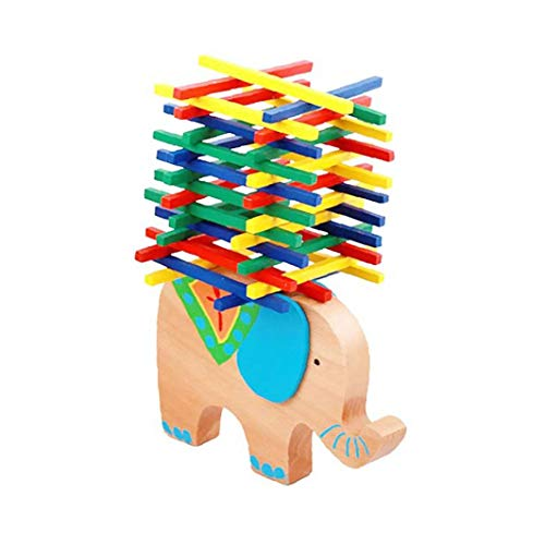 Elefante Camel Barra De Equilibrio De Madera Del Rompecabezas De Bloques De Amontonamiento De Construcción De Juguete Juego De Mesa Equilibrio De Elefante Para Niños