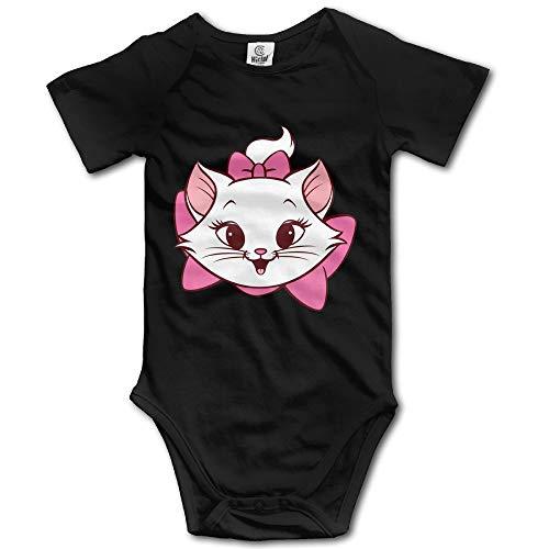 SDGSS Ropa para bebés Bodysuits Unisex Baby One-Piece Suit Unique Marie Cat Short-Sleeve Bodysuit 100% Cotton Boys Girls 0-24 Months