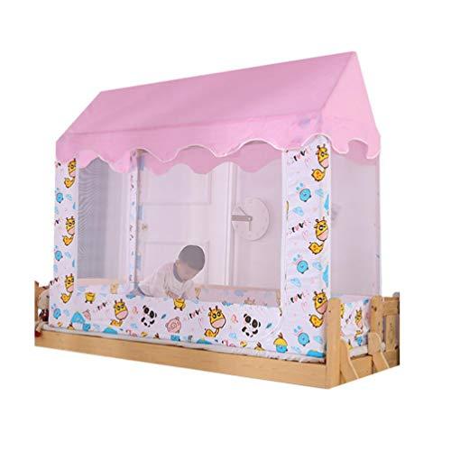 Cama para niños Juego de mosquiteros mosquiteras de Cabina de Doble propósito Redes de patrón de Estudio para niños Las Redes cuadradas con Cremallera se Pueden Colocar en el Dormitorio