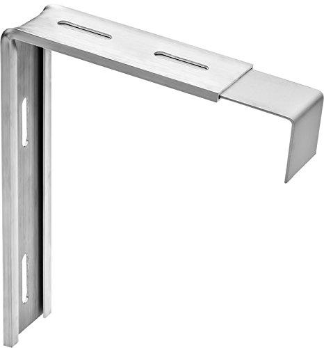 Variohalter Fensterbankhalter Fensterbretthalter Fensterbankbefestigung Ausladung Fensterbank max: 300mm, Maß B: 200mm, Tropfkante: 40mm