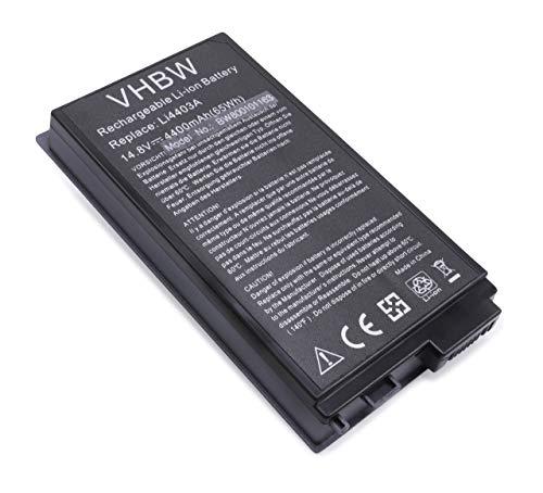 vhbw Batterie remplace Medion RAM-2010, RAM2010, RIM-2000, RIM2000, W81148LA, 40010871 pour Laptop (4400mAh, 14,8V, Li-ION, Noir)