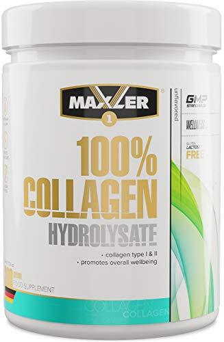 Maxler Collagen Pulver Hyrolysate aus Weidehaltung - Geschmacksneutrales Eiweisspulver - Reines Premium Kollagen Pulver Hydrolysat - Collagen Peptide - 30 Protionen Collagen Hydrolysat Pulver - 300g