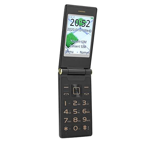Ccylez Entsperrtes 3G Seniors Flip-Handy, Dual-SIM-Karte mit großem Knopf,...