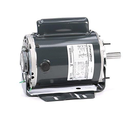 Marathon B318 Fan and Blower Motor, Single/Split Phase, Protection - None, 3/4 hp, 1725 RPM, 115/208-230V, 10.0/5.2-5.0 amp