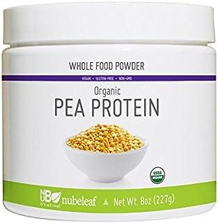 Nubeleaf 80% Pea Protein Powder - Non-GMO, Gluten-Free, Raw, Organic, Vegan Source of Fiber & Essential Amino Acids - Sing...