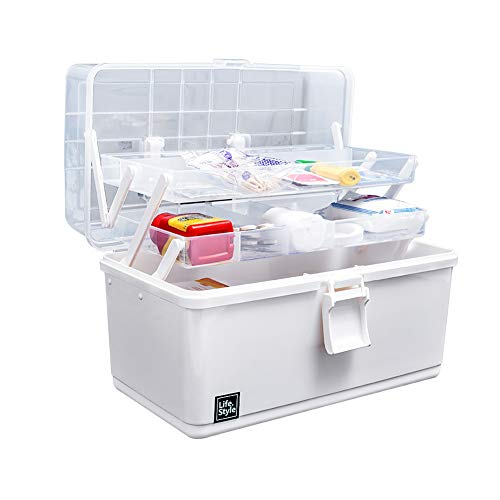 LTLGHY Grande Caja De Medicina 3-Capa Armarios De Medicinas Portátil Farmacia Organizador Botiquin De Primeros Auxilios 32.5X18x23cm