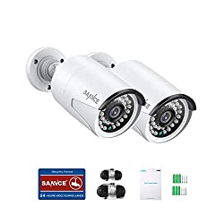 commercial SANNCE 2MP PoE security camera, optional bulletproof IP camera, video and audio recording, 100ft night … sannce ip camera