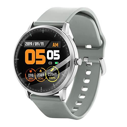 LC.IMEEKE Smartwatch, Fitness Armband mit Pulsmesser Fitness Tracker Fitnessuhr IP67 Wasserdicht Sportuhr mit Schrittzähler Pulsuhren Stoppuhr für Damen Herren Smart Watch für iOS Android Handy