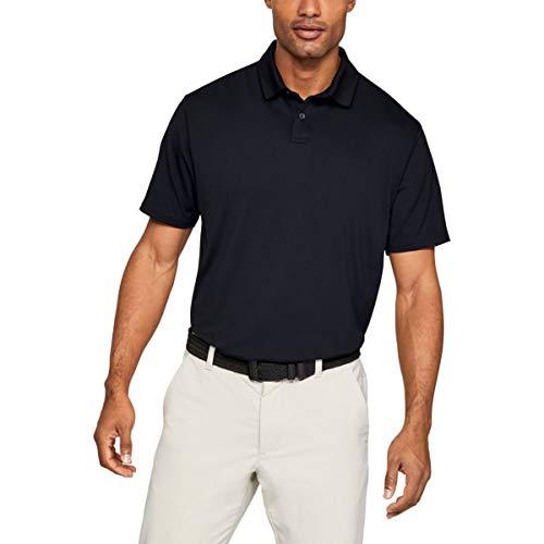 Under Armour Herren Solide Leistung 2.0 Golf-Polo-Hemd - Schwarz - L