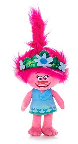 DreamWorks Trolls 2 Blue Dress Poppy Soft Plush Toy