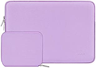 MOSISO Laptop Sleeve Compatible with 13-13.3 inch MacBook Pro, MacBook Air, Notebook Computer, Neoprene Bag Cover with Small Case, Light Purple